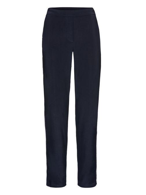 Bianca Navy Parigi Glitter Detail Trousers 0040 484