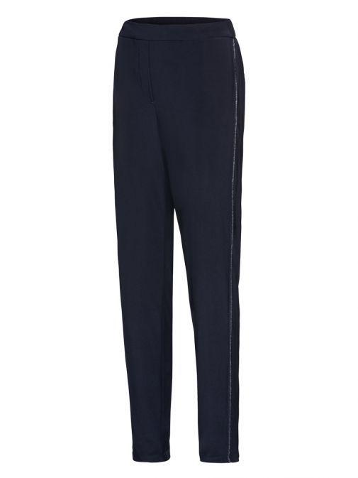 Bianca Navy Parigi Glitter Detail Trousers