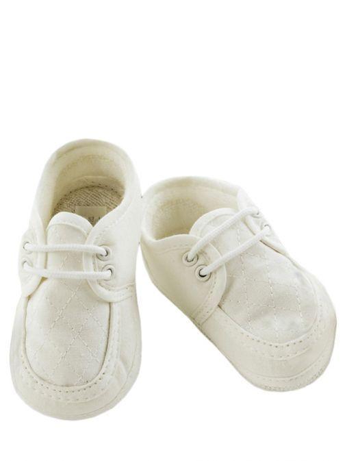 Sarah Louise Ivory Christening Shoes 004490 IVORY
