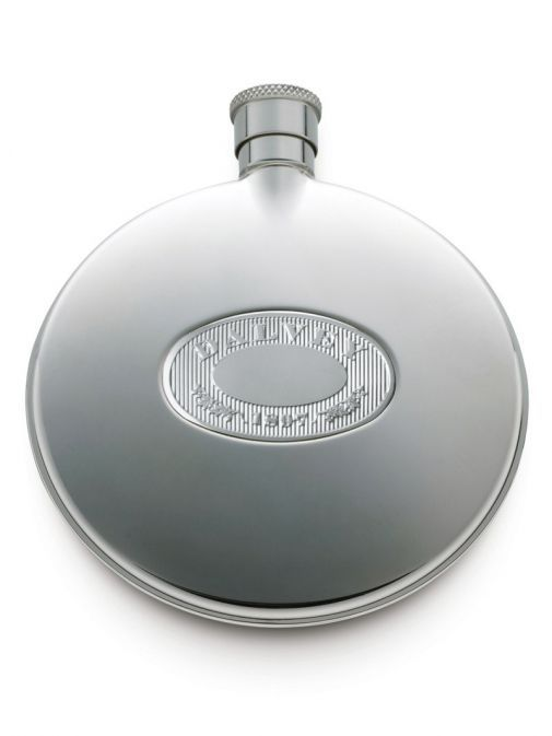 Dalvey Stainless Steel Compact Flask 00459 SILVER