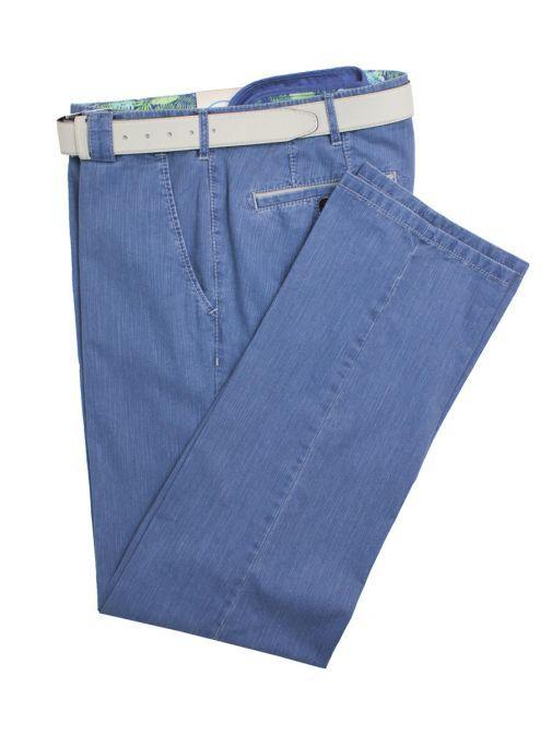 Meyer Denim Blue Roma Cotton Trousers 1-5002 17