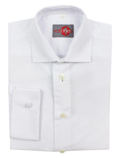Varones White Long Sleeve Shirt 10-06069/01