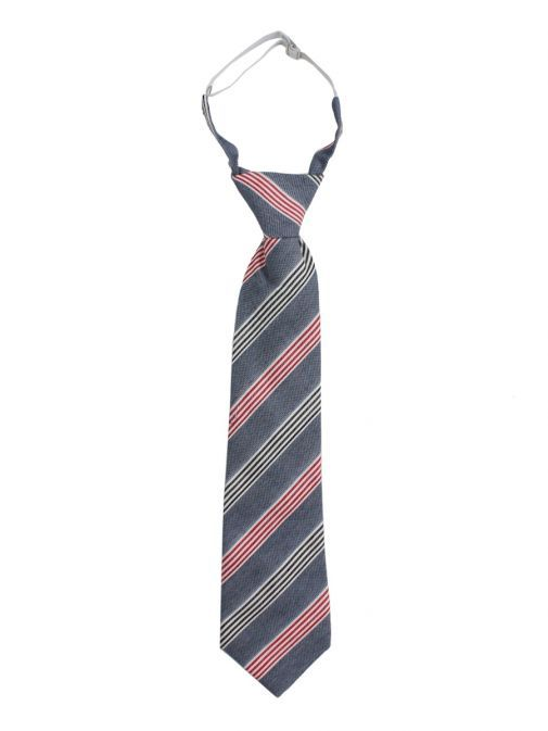 Varones Denim Blue Striped Tie 10-08011A/06