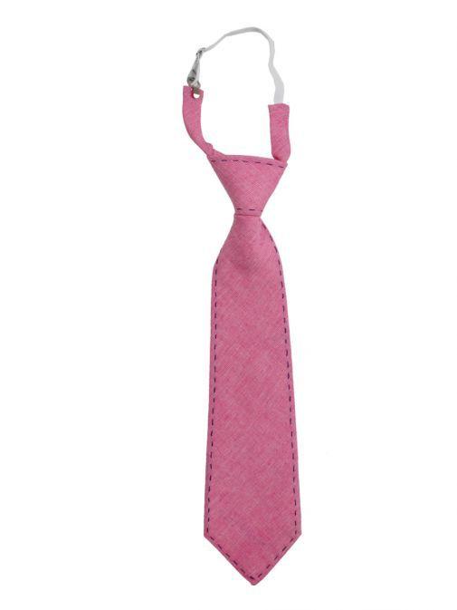 Varones Pink Linen Tie 10-08011B/114