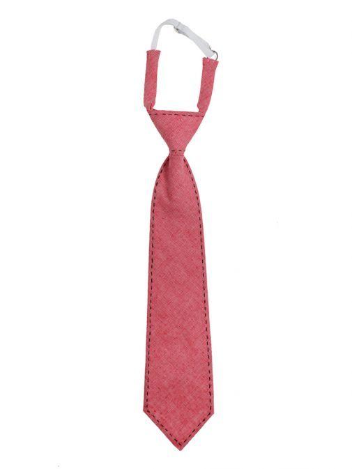 Varones Red Linen Tie 10-08011B/115