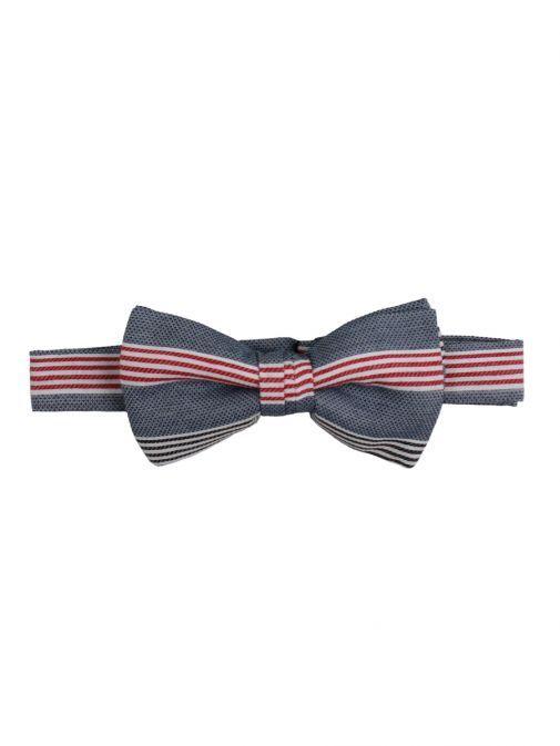 Varones Denim Stripe Bowtie 10-08012A/06