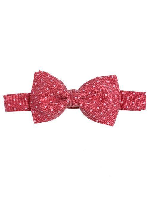 Varones Red Polka Dot Bow Tie 10-08012D/108