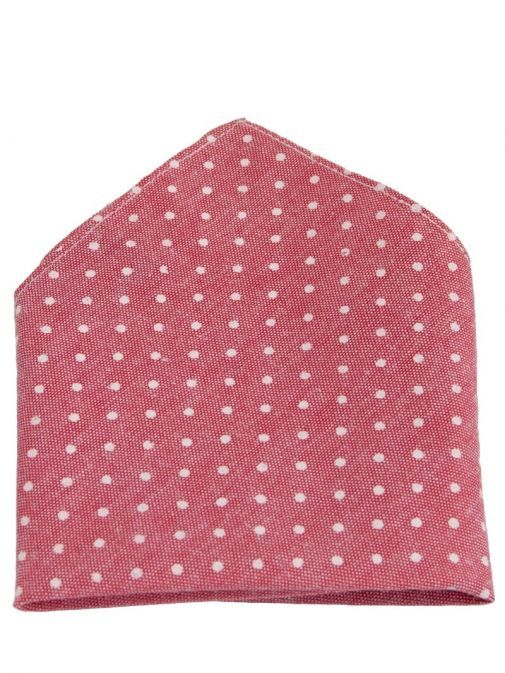 Varones Pink Polka Dot Pocket Square 10-08013D/108
