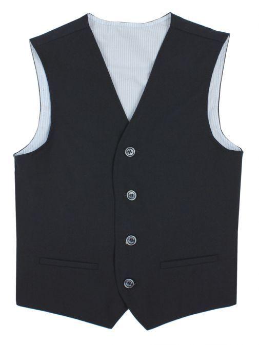 Varones Navy Cotton Waistcoat 10-10002 79