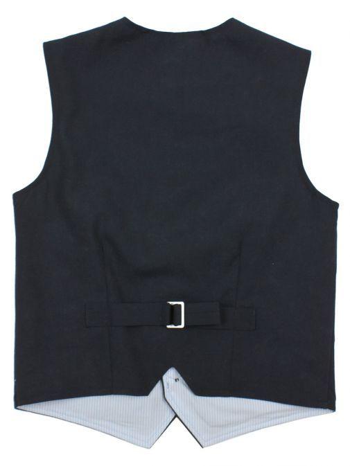 Varones Navy Cotton Waistcoat