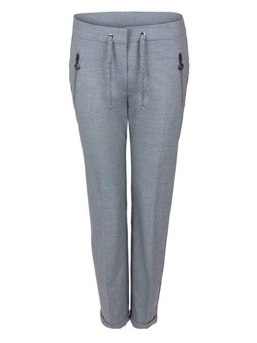 Bianca Grey Siena Slim Fit Trousers 10027 740