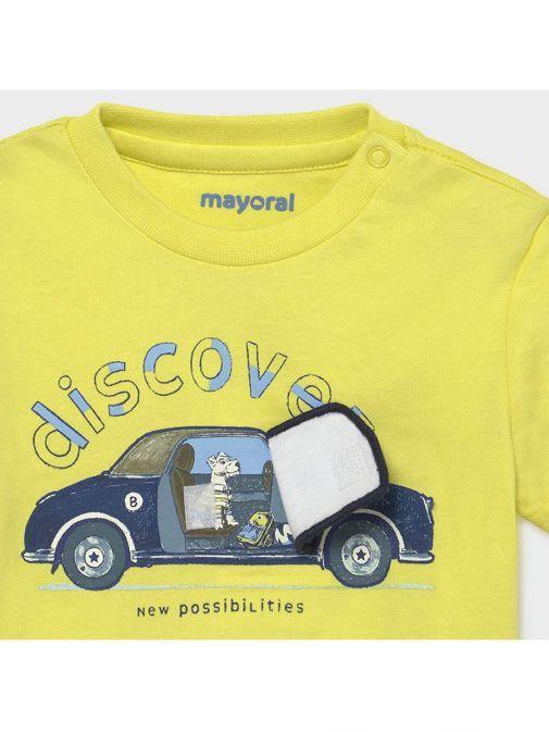 Mayoral Lime Car Interactive Print T-Shirt 1006/93-Green