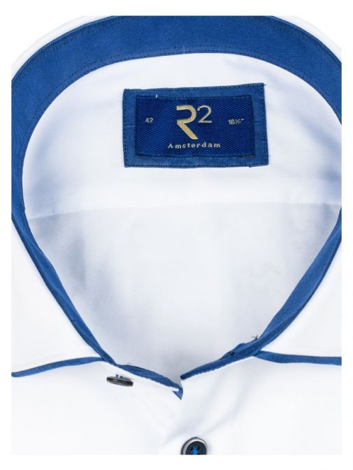R2 Westbrook White Navy Trim Shirt