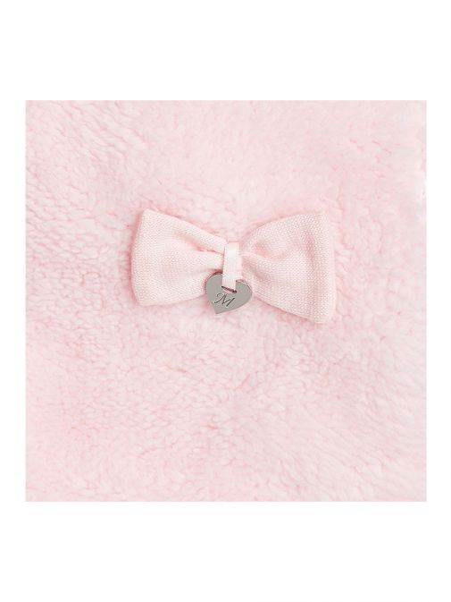 Mayoral Baby Girl Pink Fluffy Hat Scarf & Mittens Set