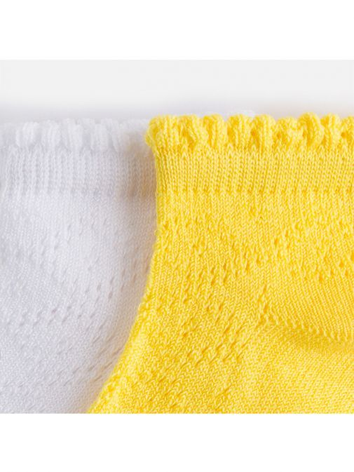 Mayoral Yellow And White 2 Pack of Socks