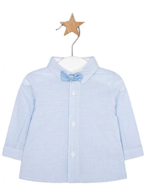 Mayoral Sky Long Sleeved Shirt With Bow-Tie 1106 57