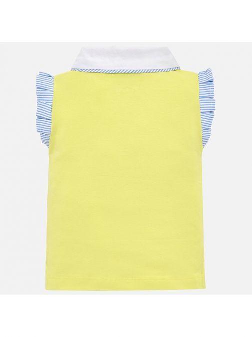 Mayoral Yellow Sleeveless Polo T-Shirt