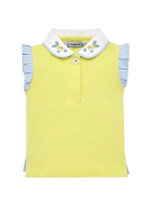 Mayoral Yellow Sleeveless Polo T-Shirt 1109 20