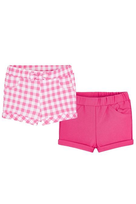 Mayoral Pink & White 2 Pack Shorts 1203/75