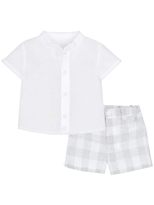 Mayoral White & Grey Outfit 1210 34