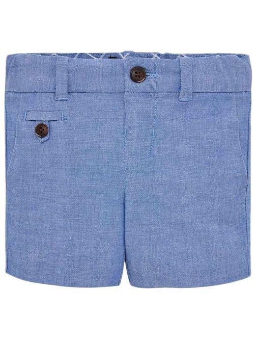 Mayoral Lavender Blue Formal Linen Bermuda Shorts 1238 75