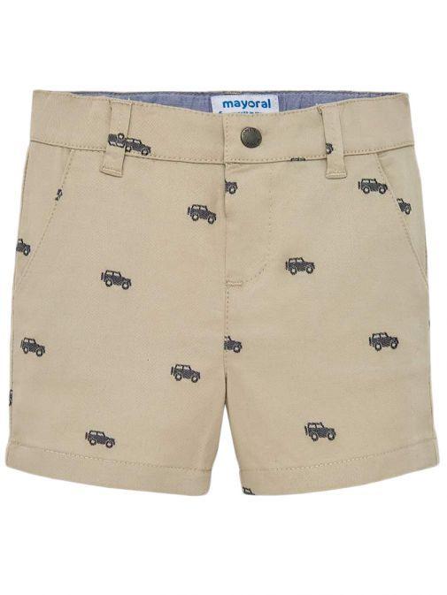 Mayoral Beige Patterned Bermuda Shorts 1240 21