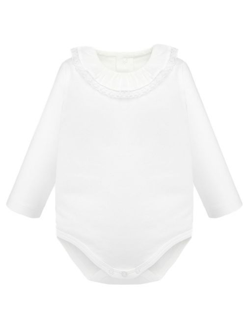 Mayoral Off-White Frill Collar Bodysuit 125 69