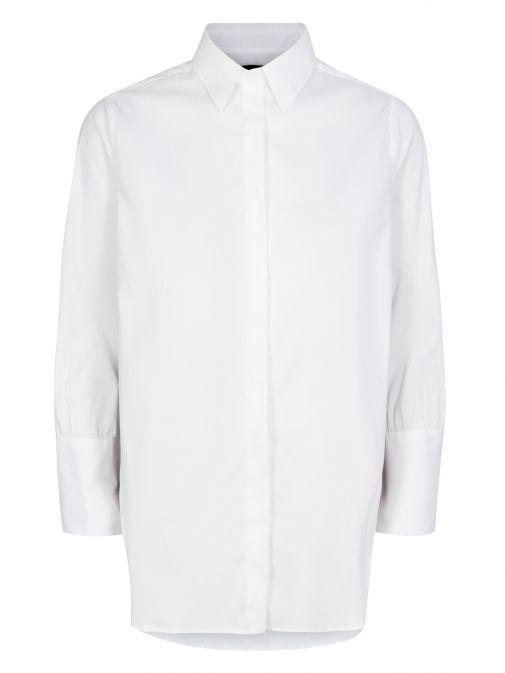 Mos Mosh White Larina Ribbon Shirt 129050 101