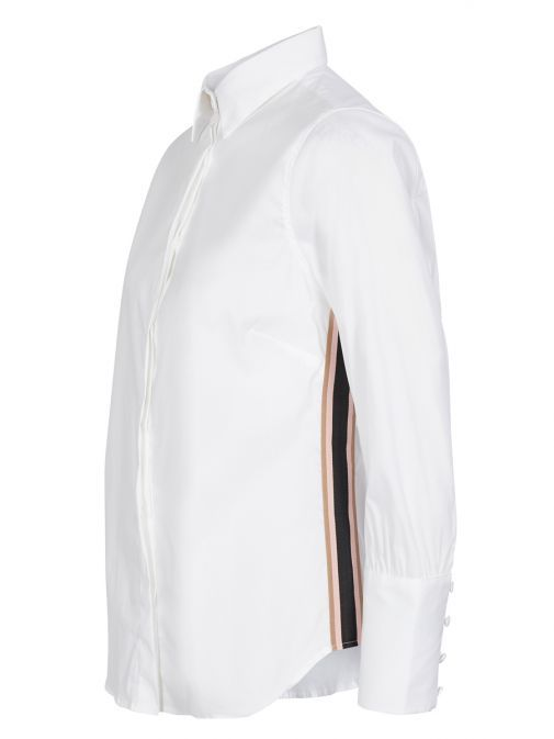 Mos Mosh White Larina Ribbon Shirt