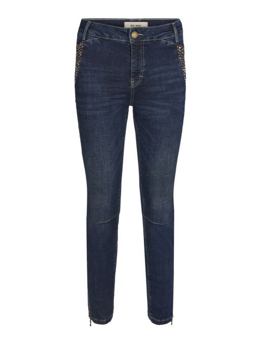 Mos Mosh Dark Blue Denim Etta 7/8 Trok Jeans 129100 480