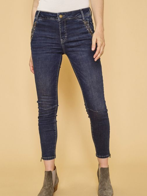 Mos Mosh Dark Blue Denim Etta 7/8 Trok Jeans