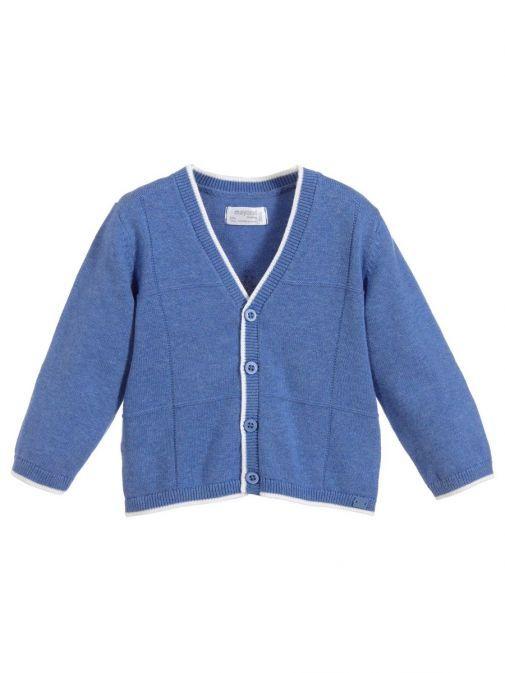 Mayoral Azure Blue Knit Cardigan 1306 95