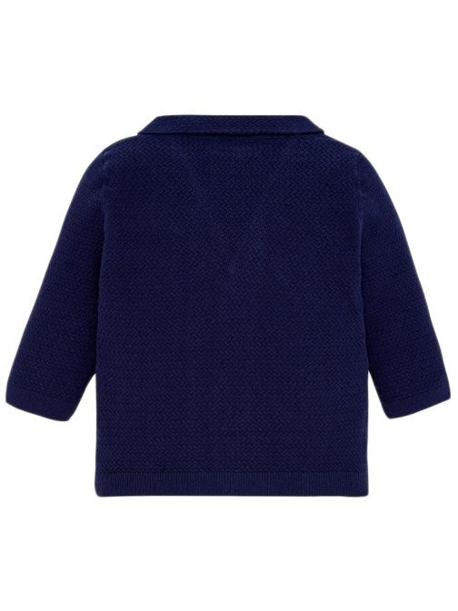 Mayoral Navy Blue Knitted V-Neck Cardigan