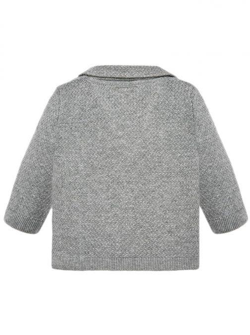 Mayoral Grey Knitted V-Neck Cardigan