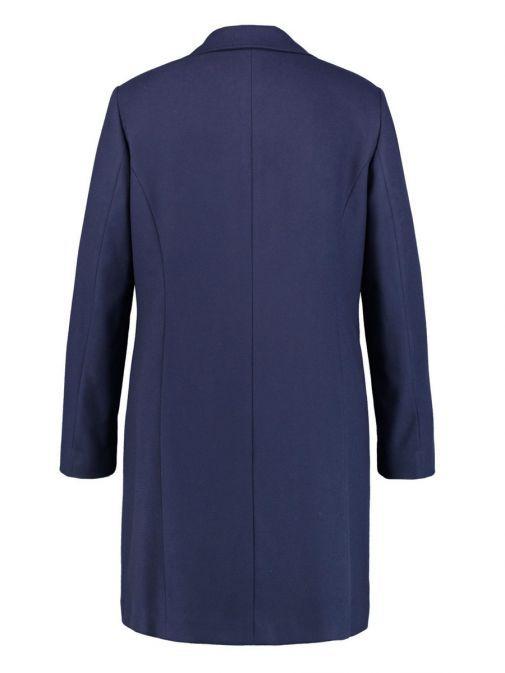 Samoon Navy Long Coat With Star Brooch 150013-27800 80203