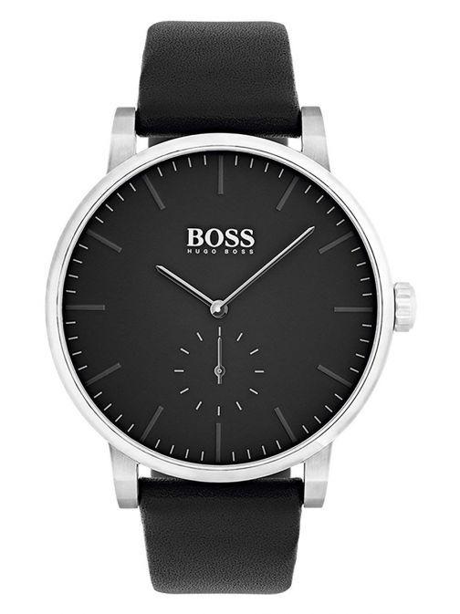 Hugo Boss Black Essence Leather Strap Watch 1513500