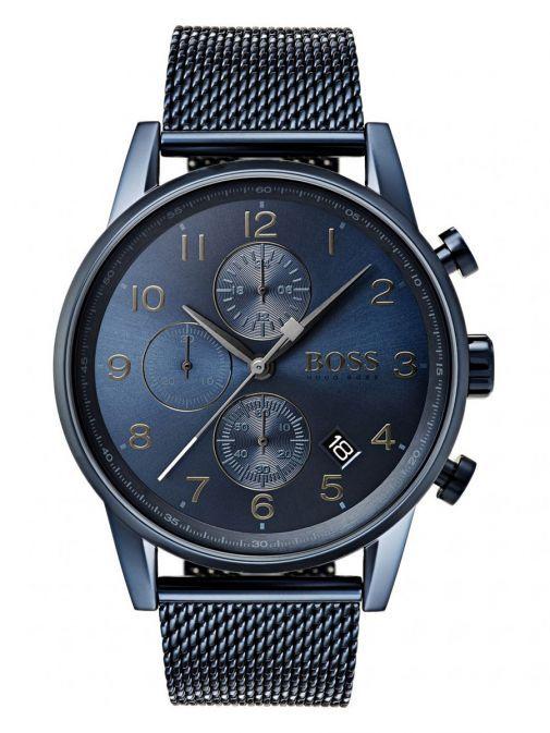 Hugo Boss Navy Blue Navigator GQ Edition Chronograph Watch 1513538