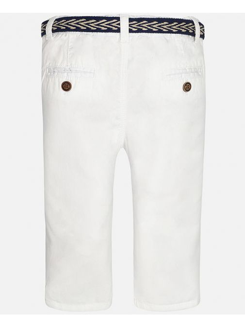 Mayoral Baby White Chinos With Belt