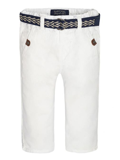 Mayoral Baby White Chinos With Belt 1529 82