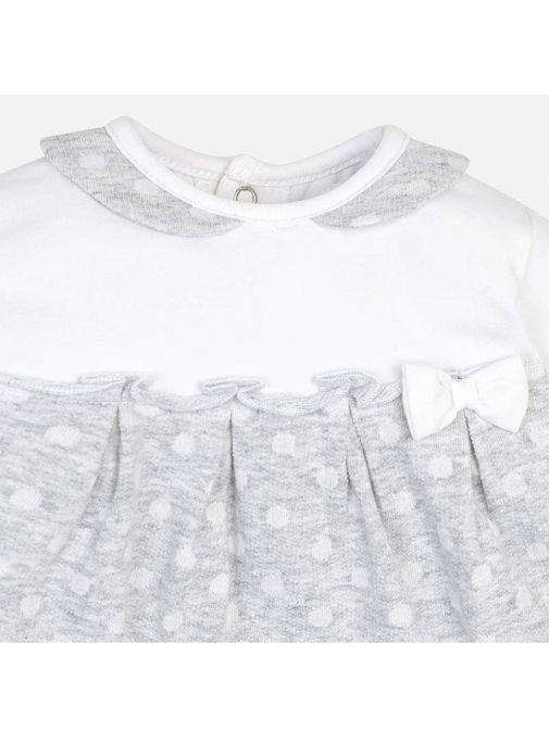 Mayoral White & Grey Pack of Two Babygrow Pyjamas