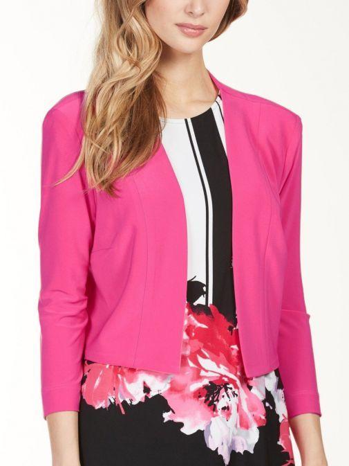 Frank Lyman Hot Pink Jersey Bolero 176064 PINK