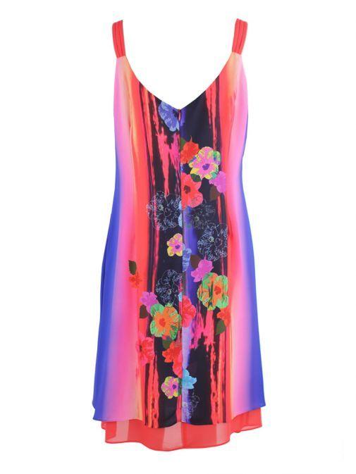 Frank Lyman Multicolour Floral Print Shift Dress