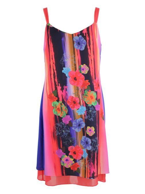 Frank Lyman Multicolour Floral Print Shift Dress 176513 MULTI