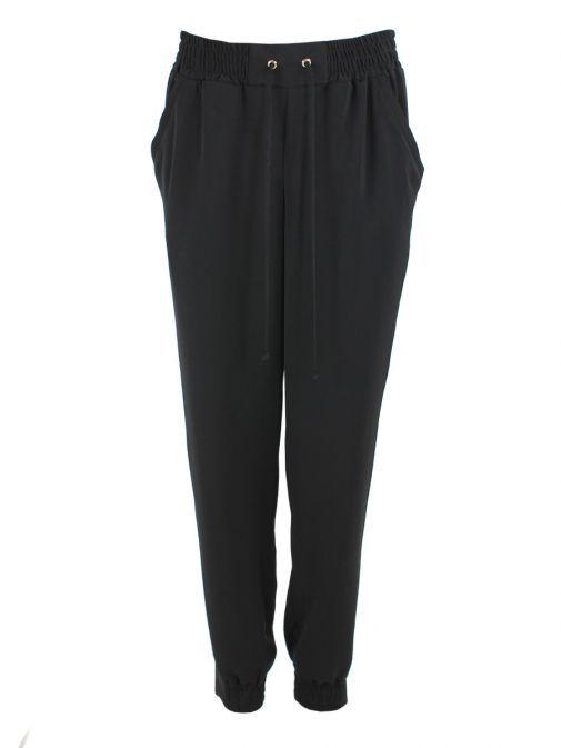 Frank Lyman Black Drawstring Trousers 176624 BLACK