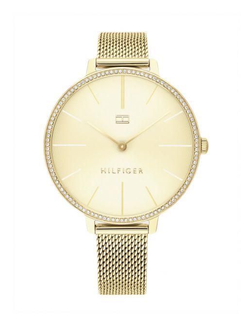 Tommy Hilfiger Gold Crystal Embellished Watch