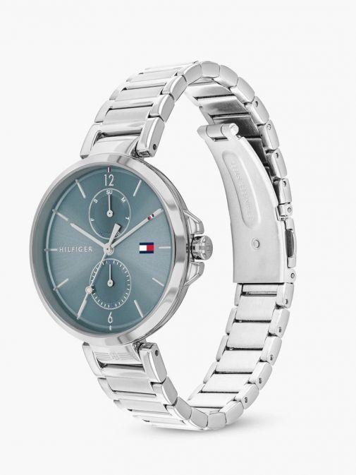 Tommy Hilfiger Silver & Blue Bracelet Watch