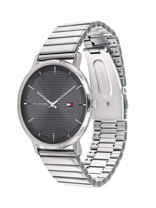 Tommy Hilfiger Silver & Black Classic Watch