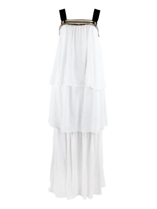 SPELL White Layered Dress 18-3563-100 WHITE