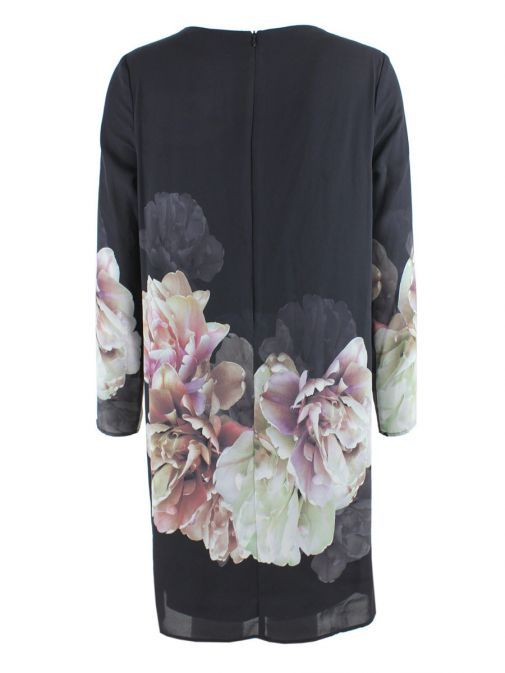 Frank Lyman Multi Floral Printed Long Sleeve Dress
