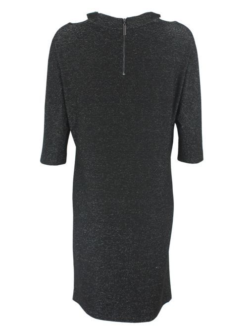 Frank Lyman Black Glitter Jersey Dress